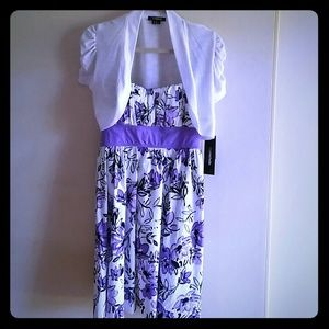 Floral dress with Cropped Shrug